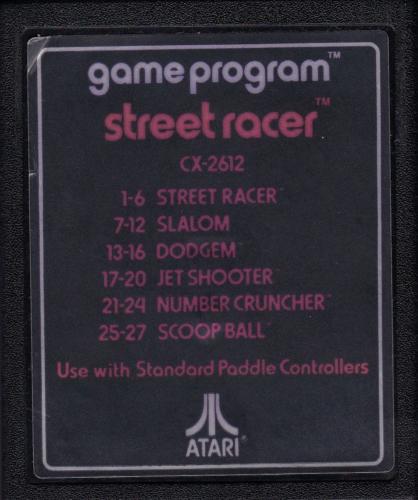 Atari CX-2612 Street Racer