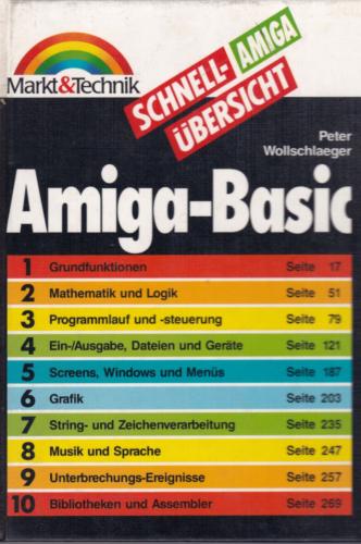 Markt und Technik - Schnellübersicht Amiga-BASIC